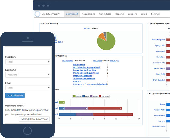 Applicant Tracking in the Cloud from ClearCompany HRM