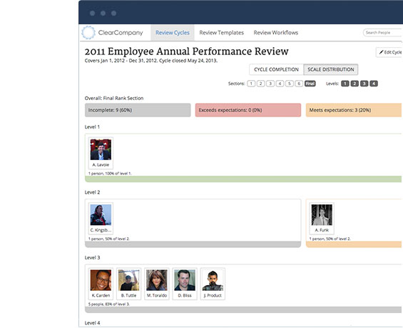 Performance Management from ClearCompany HRM