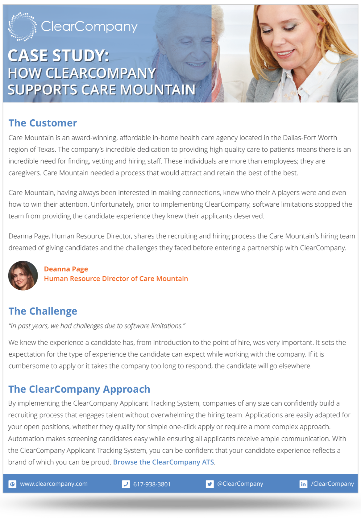 Talent Management Example of Care Mountain